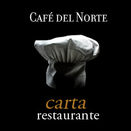 menu carta restaurante - el café del norte